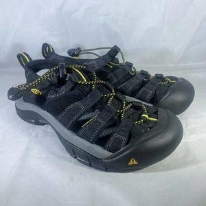 Keen Black Canvas Strap Sandals Waterproof